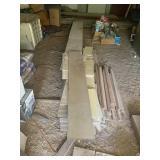 pile of 16 ft. masonite siding 12wide
