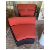 2 outdoor wicker chairs
