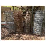 4 partcial rools of fencing