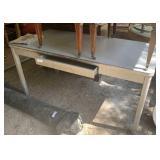 metal table 5ftx30x29 w/drawer