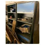 2 metal cabinets w/ contents