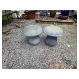 2 resin mushrooms