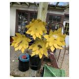 metal sunflower art