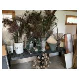 vases and feather lot