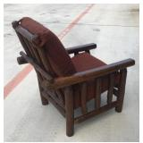 Log style chair by Seattle Logworks
