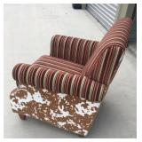 Cow style fabric chair.