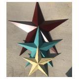 3 metal star wall set