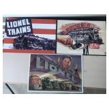 Lionel metal train signs (3)