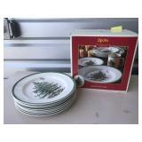 Spode Christmas Tree Pattern 16 set NIB!! & plates