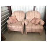 2 matching fabric chairs