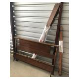 Wooden bed set with rails and slats