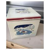 10.5 x 10.5 wooden box with Coca-cola bears on it