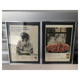 2 old print pictures Quaker Oats & Chef Boy-ar-Dee