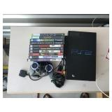 Play Station 2 with all games shown