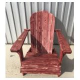 (2) Pair of Red stained chairs VERY NICE