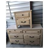 dresser and end table set.