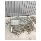 Glass top table 34x34x17