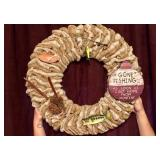 Wreath Gone Fishing Made & Donated By Jan Tolton