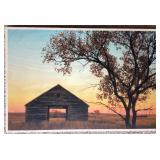 Granary in Fall 12x18 Wood Print by Cristen Joy Photography