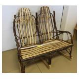 Amish 2 Seat Rocking Chair