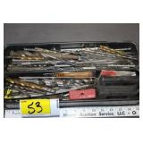 Tray of misc drill bits