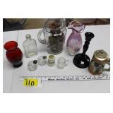 Misc Glassware, vases, S&P Shakers, etc