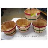 4 Apple Baskets