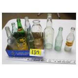 Vintage Bottles-Pluto Water & Knee Hi, Huron, SD