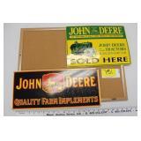 John Deere Signs & Cork board