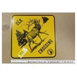 RMEF Elk Crossing Sign