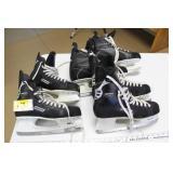 Hockey Skates- 2 Pair sz 11, 1 pair sz 14 & gloves