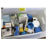 Tote of Electrical & Light bulbs