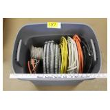 Tub of misc wire