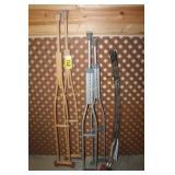 2 Pair Crutches & Shower curtain rod
