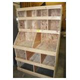 Wooden Parts Bin - homemade