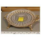 Serving Plate & Gold Stand