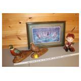 Pheasant picture, pheasant & hunter decor