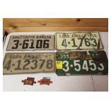 South Dakota License Plates1947,