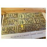 South Dakota License Plates 1970-1971