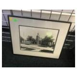 Framed Courtyard Photo, 20 inches wide