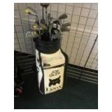Lynx Golf Bag with assorted clubs