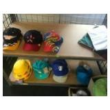 Assorted hats, some are new