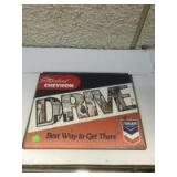 Newer Chevron Drive Sign, 12 x 15 inches
