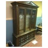 China/ Curio Cabinet, with 3 glass doors, 53 wide, 82 tall