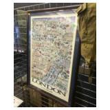 "Framed Matted ""London"" poster"