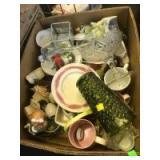 Box of misc glassware