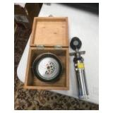 Vintage Compass and Ophthalmoscope