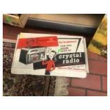 Vintage Crystal Radio with original box