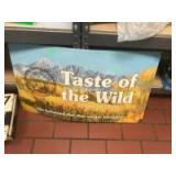 "2-""Taste of the Wild"" Cardboard signs"
