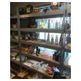 PLEASE READ ENTIRE DESCRIPTION FOR DETAILS. Metal rack shelving with wood shelf inserts